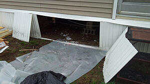 Outer image of the underbelly of a manufactured home