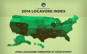 Locavore Index map