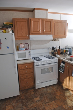 Kitchen of a new manufactured home
