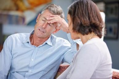 Man getting a headache